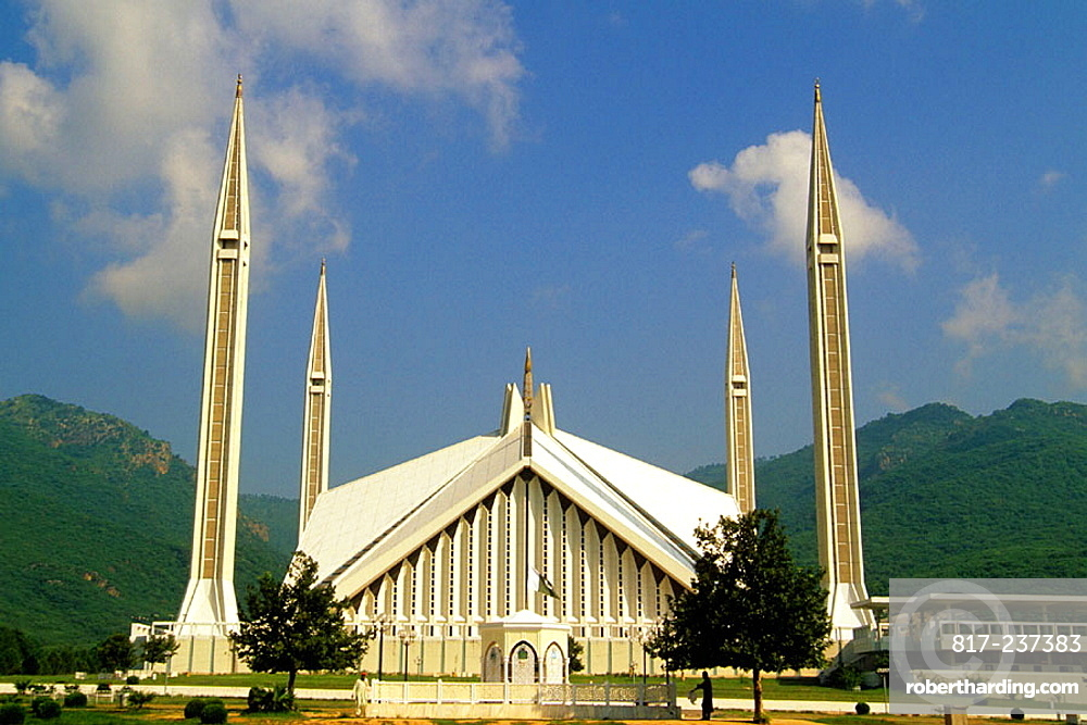 Shah Faisal Masjid Mosque Islamabad Stock Photo