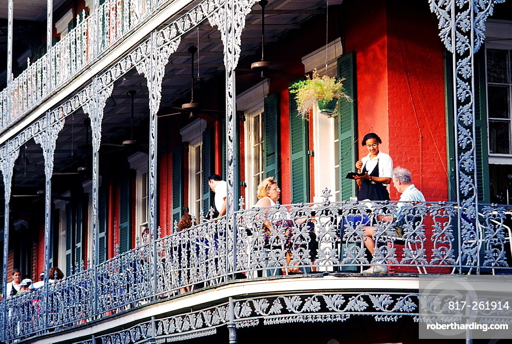 New Orleans The Royal Cafe Stock Photo