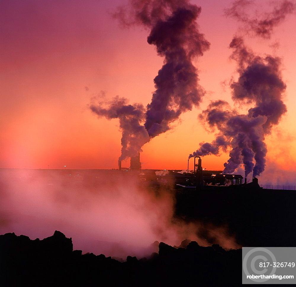 Svartsengi Geothermal Power Plant, Iceland | Stock Photo