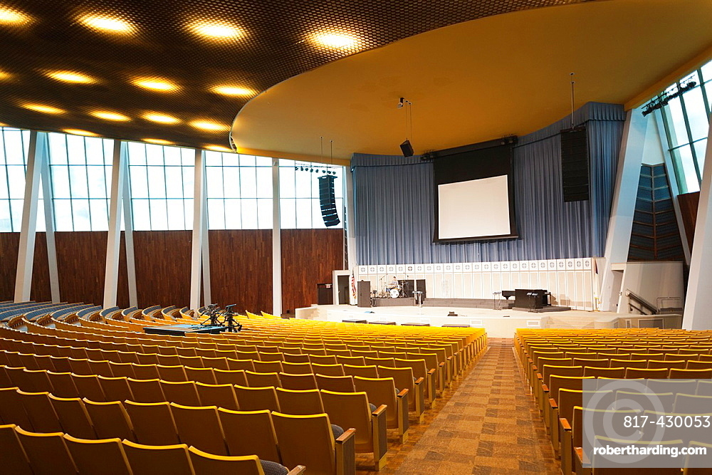 USA, Oklahoma, Tulsa, Oral Roberts University, Christ's Chapel, television church