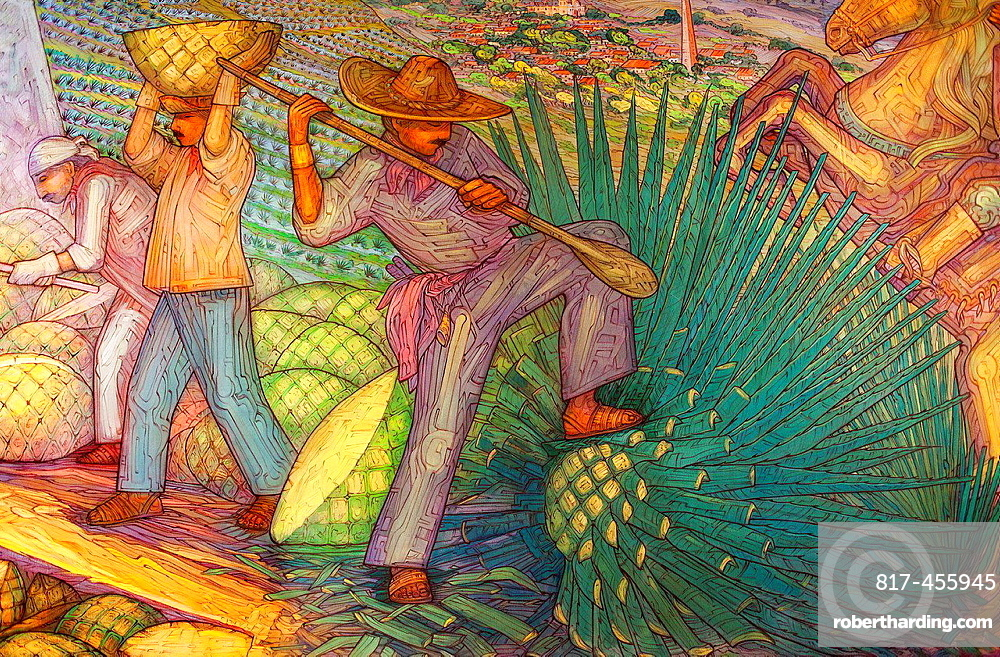 Mural by Maestro Carlos Terres, | Stock Photo