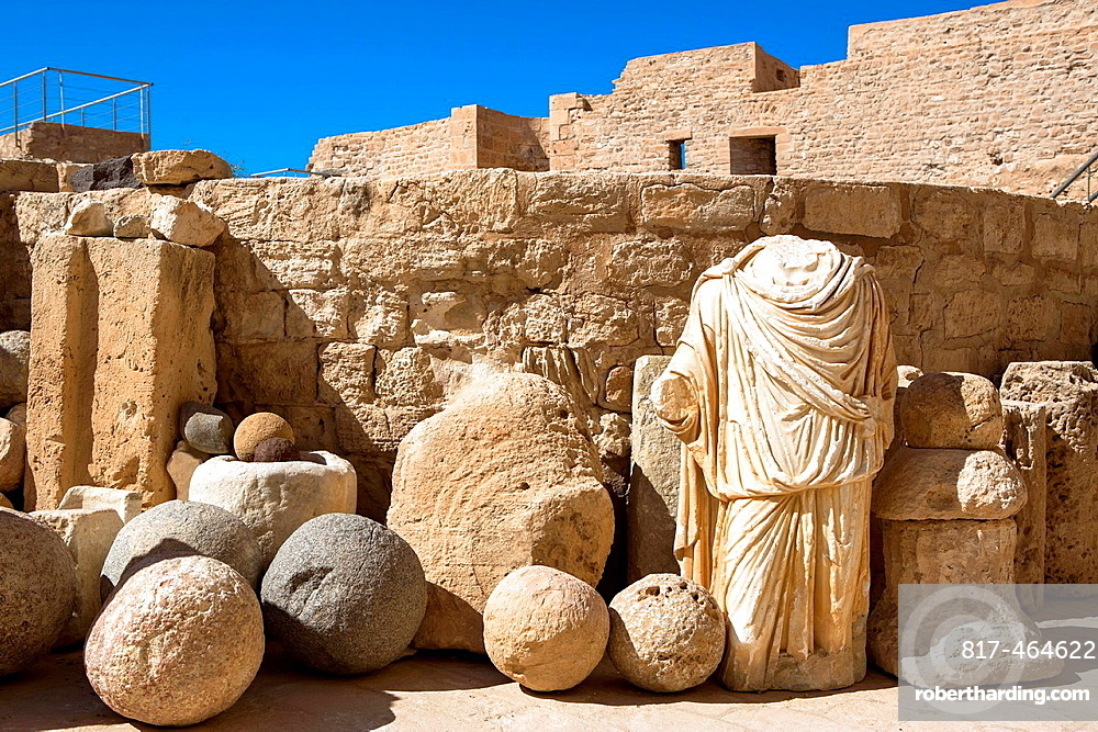 Artifacts at old fort, Djerba, Tunisia
