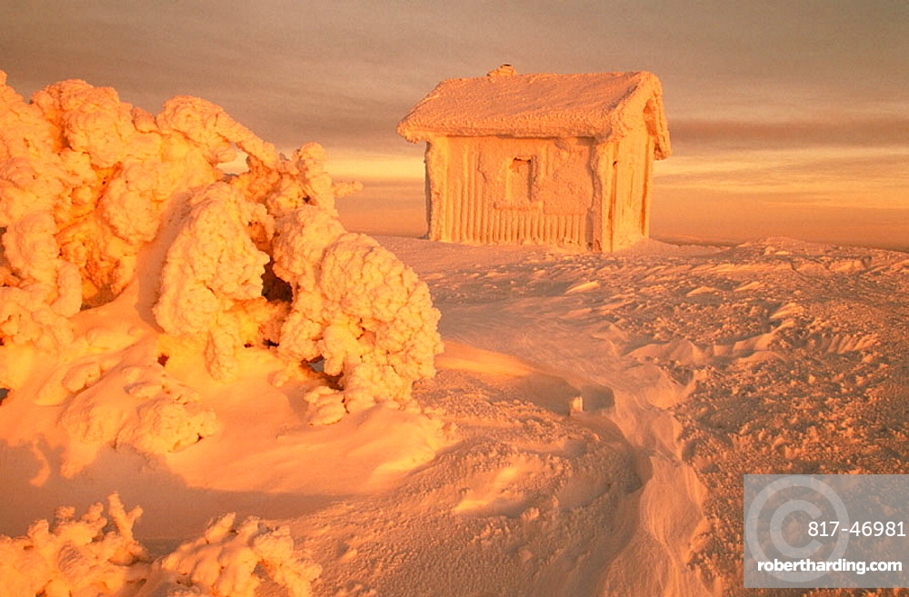Icy hut in Laplad, Finland