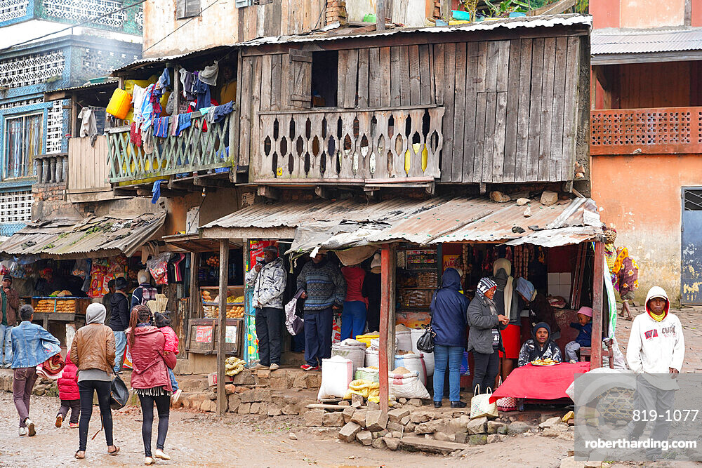 Daily market at Ambozontany, upper Fianarantsoa, Ihorombe Region, Southern Madagascar