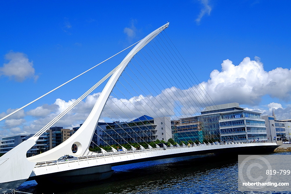 Samuel Beckett Bridge on Liffey River, Dublin, Republic of Ireland, Europe