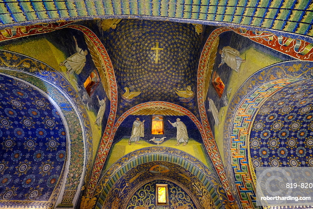 Mausoleum of Galla Placidia, Ravenna, Italy, Europe