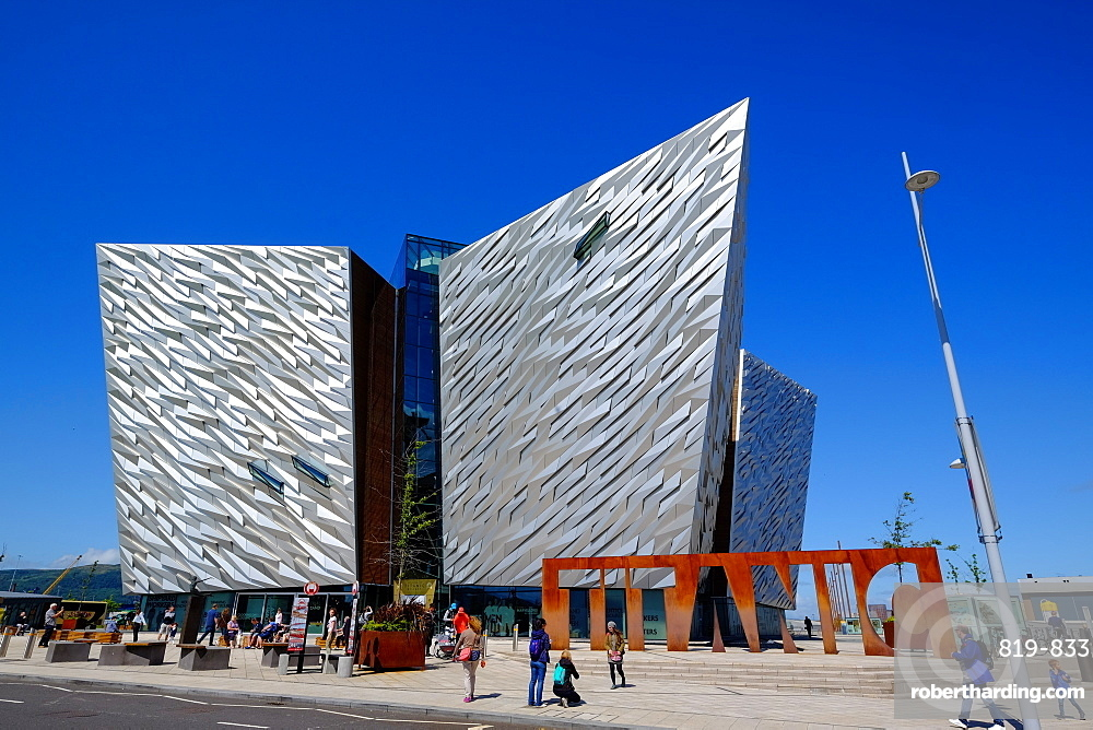 Titanic Belfast Museum on the site of the former Harland and Wolff shipyard, Belfast, Northern Ireland, United Kingdom, Europe