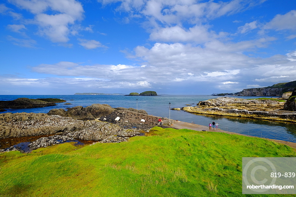 Ballintoy Harbour, Ballycastle, County Antrim, Ulster, Northern Ireland, United Kingdom, Europe