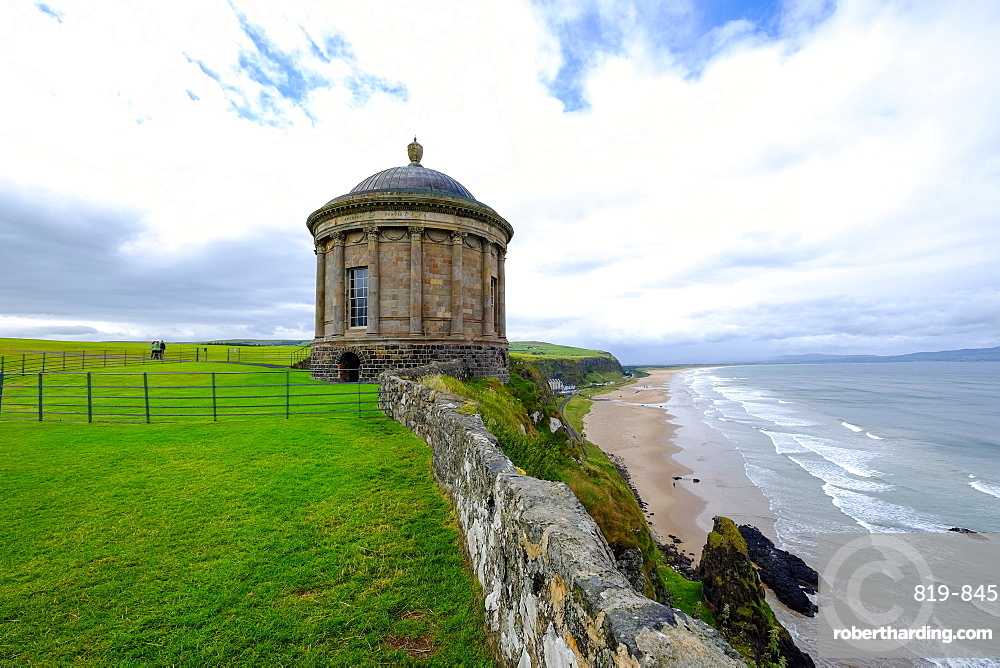 Mussenden Temple, a small circular building located on cliffs near Castlerock in County Londonderry, Ulster, Northern Ireland, United Kingdom, Europe