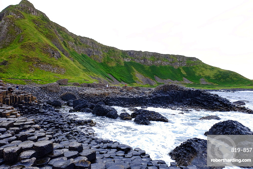 Giant's Causeway, UNESCO World Heritage Site, Bushmills, County Antrim, on the north coast of Northern Ireland. Ulster, Northern Ireland, United Kingdom, Europe