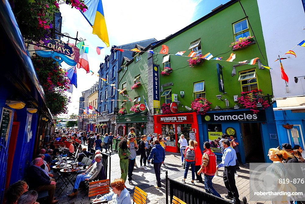 High street, Galway, County Galway, Connacht, Republic of Ireland, Europe