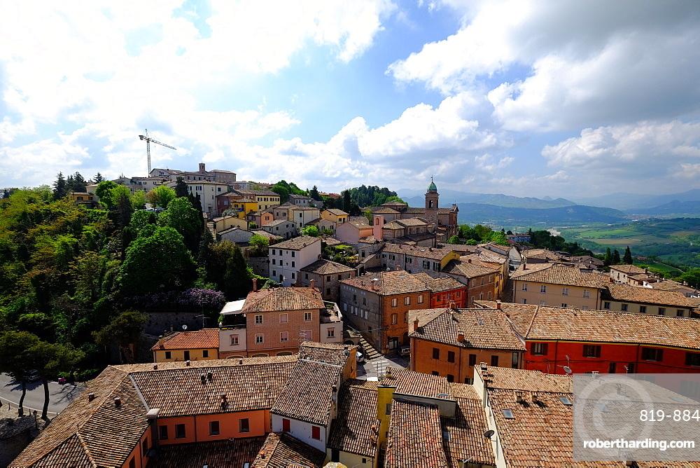 Rocca Malatestiana, Malatesta Castle, Verucchio, Rimini, Emilia Romagna, Italy, Europe