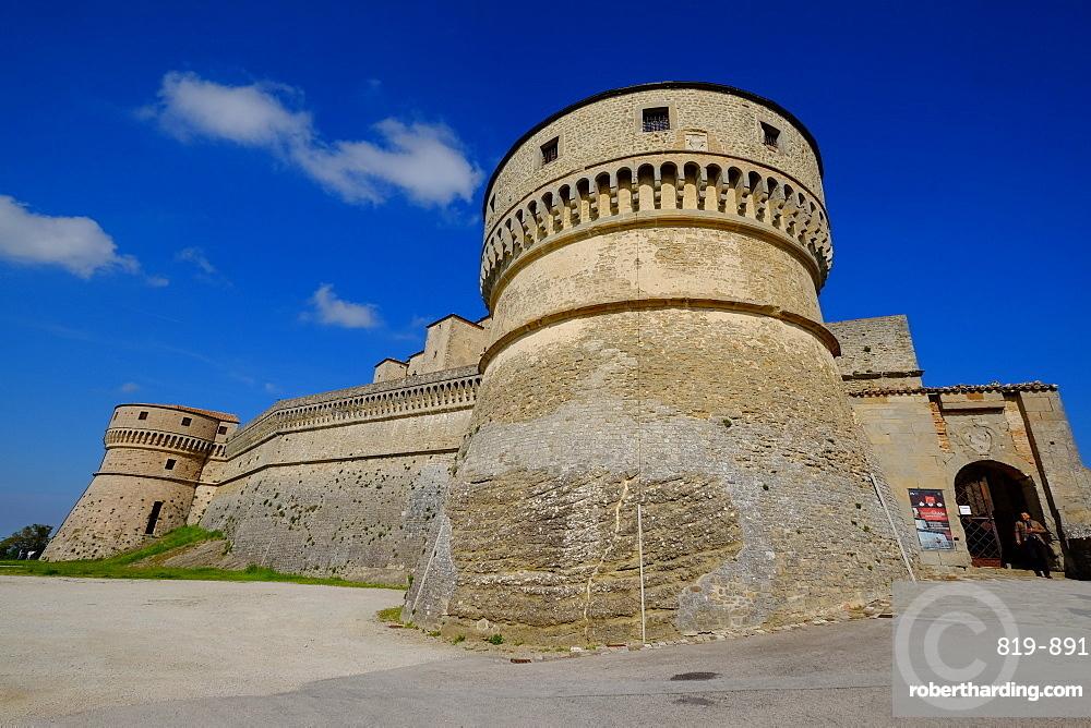 The fortress of San Leo, Rimini province, Emilia Romagna, Italy, Europe