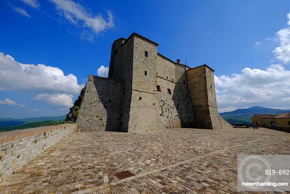 The fortress of San Leo, Rimini province, Emilia Romagna, Italy, Europe