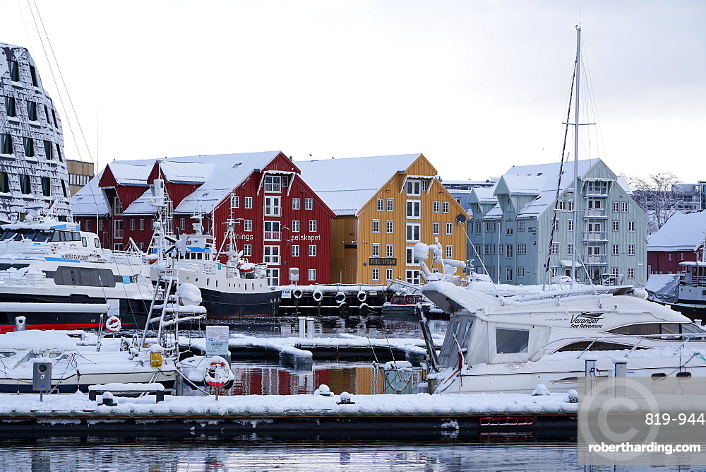 Tromsø harbour, Tromsø, Troms County, Norway, Europe