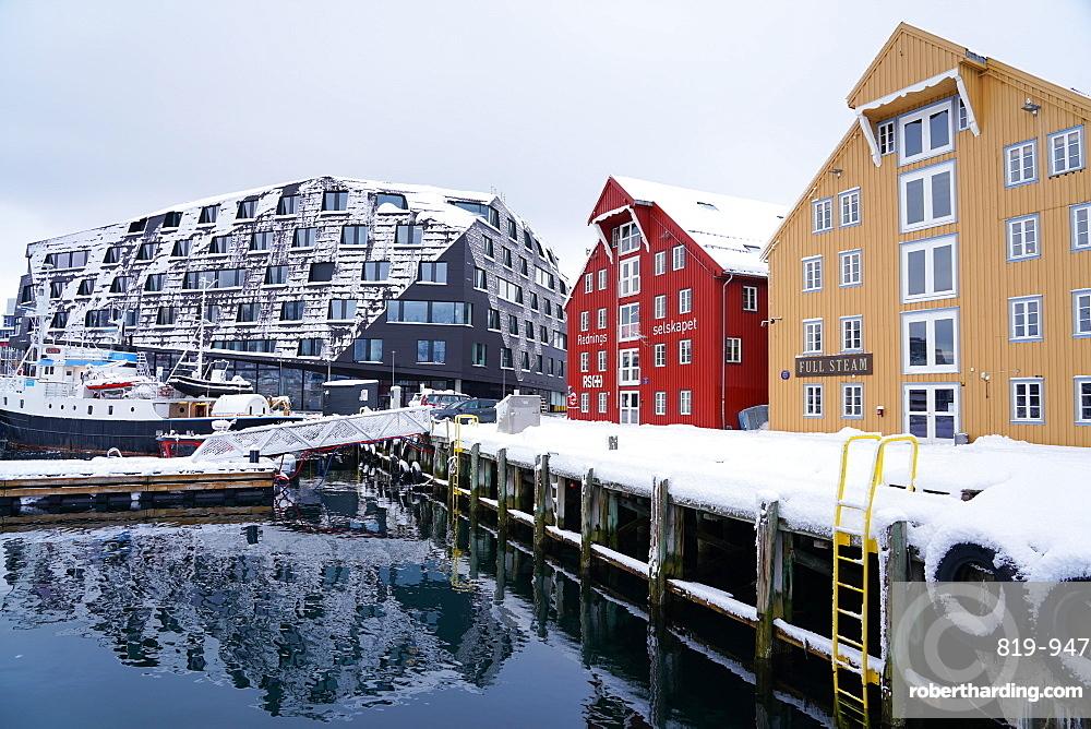 Tromsø harbour, Tromsø, Troms County, Norway, Europe