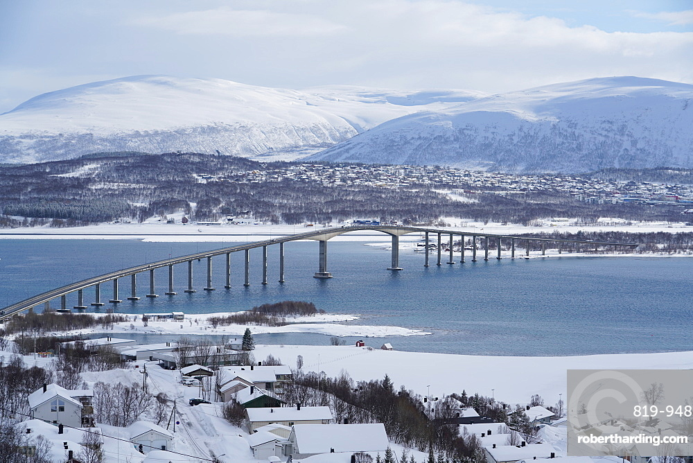 Tromsø and its airport, Tromsø, Troms County, Norway, Europe