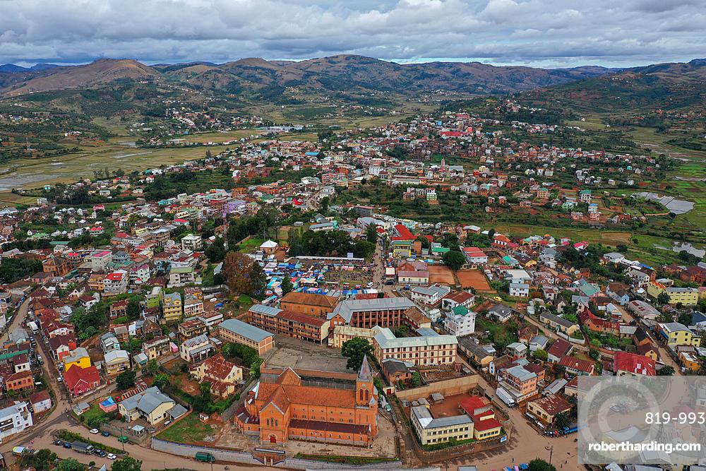 Ambositra, capital of the Amoron'i Mania region, Ambositra District, centre of Madagascar's wood-carving industry, Madagascar, Africa