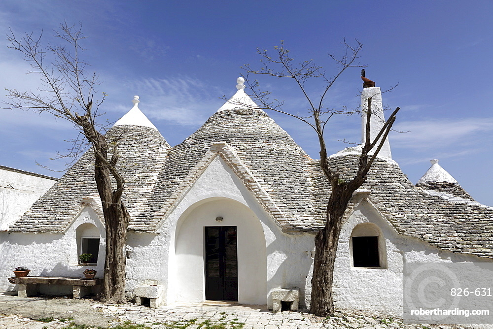 A traditional trullo house at Masseria Tagliente, an agricultural and agrotourism hub near Martina Franca, Apulia, Italy, Europe