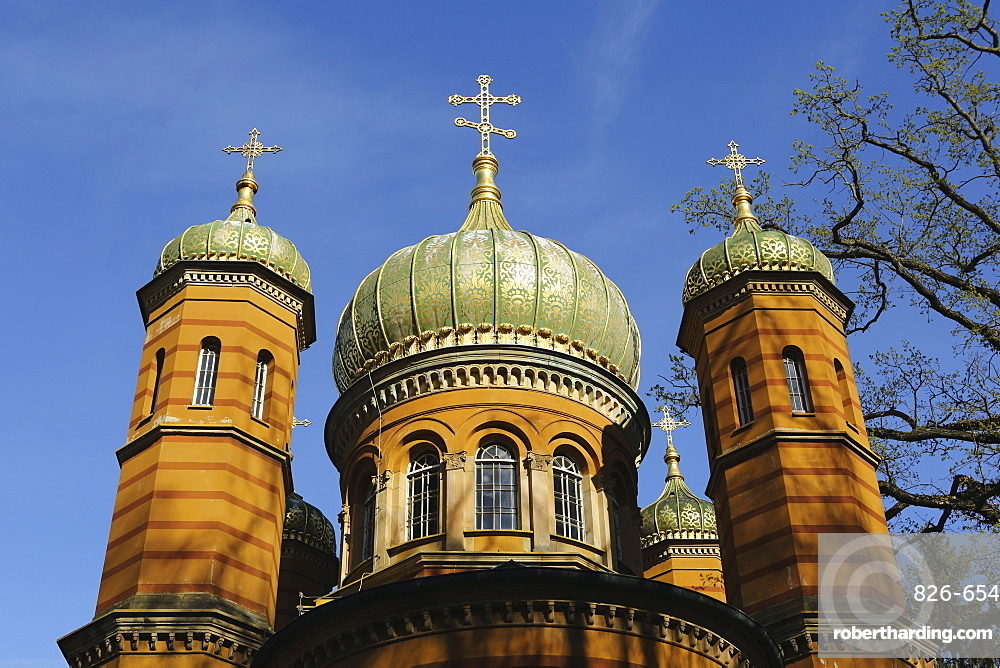 Russian Orthodox Chapel, built 1860 to 1862 for Grand Duchess Maria Palovna, in Weimar, Thuringia, Germany, Europe