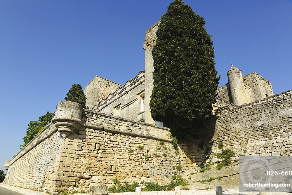 Viellevieille Castle, dating from the 11th century, with a Renaissance facade, in Villevieille, Gard, Languedoc-Roussillon, France, Europe