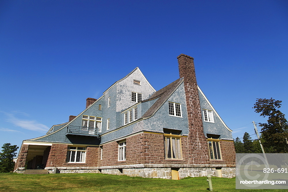 Former summer residence of Sir William Van Horne, a Provincial Heritage Place on Ministers Island in New Brunswick, Canada