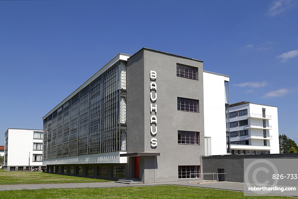The Bauhaus Building, designed by Walter Gropius in 1926, a UNESCO World Heritage Site in Dessau, Saxony Anhalt, Germany