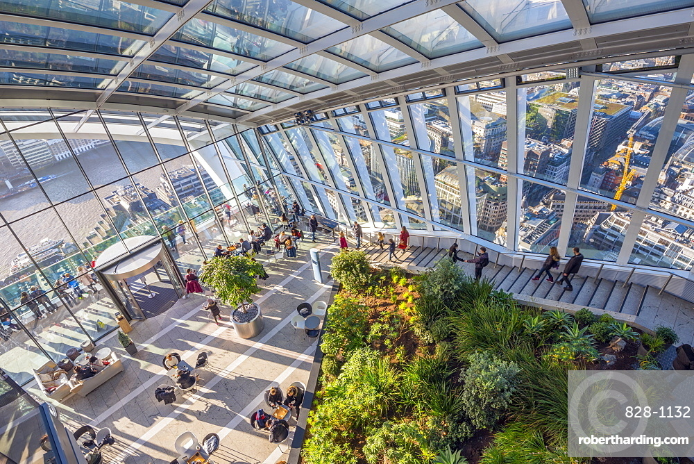 The Sky Garden at the Walkie Talkie (20 Fenchurch Street), City of London, London, England, United Kingdom, Europe