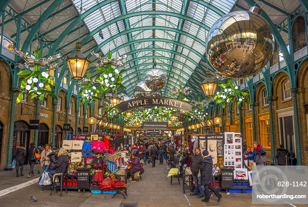 Covent Garden Market At Christmas   Stock Photo