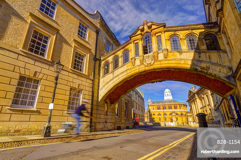 New College Lane, Hertford College, Bridge of Sighs (Hertford Bridge), Oxford, Oxfordshire, England, United Kingdom, Europe