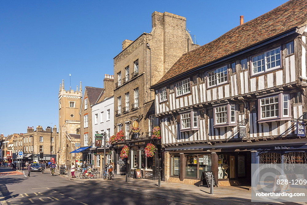 The Mitre and The Baron of Beef pubs, Bridge Street, Cambridge, Cambridgeshire, England, United Kingdom, Europe