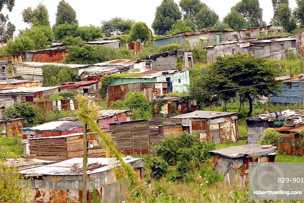 Squatter camp on the outskirts of Butterworth in the Eastern Cape Province of South Africa.