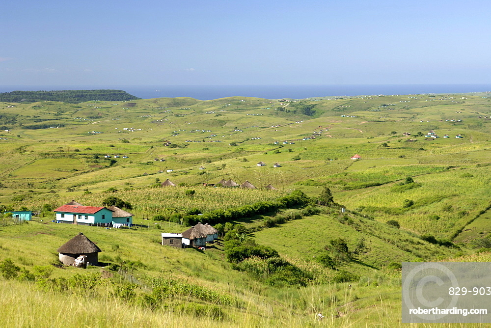 View of the landscape in the Eastern Cape Province of South Africa. This is an area along the Coffee Bay road in a region formerly known as the Transkei.