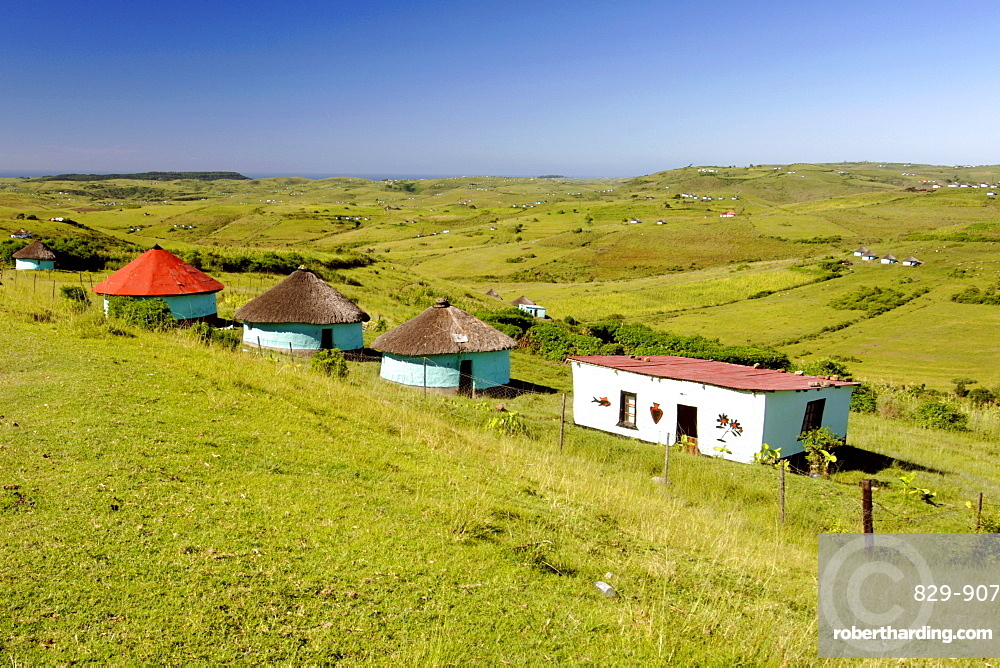 View of the landscape in the Eastern Cape Province of South Africa. This is an area along the Coffee Bay road in a region formerly known as the Transkei,