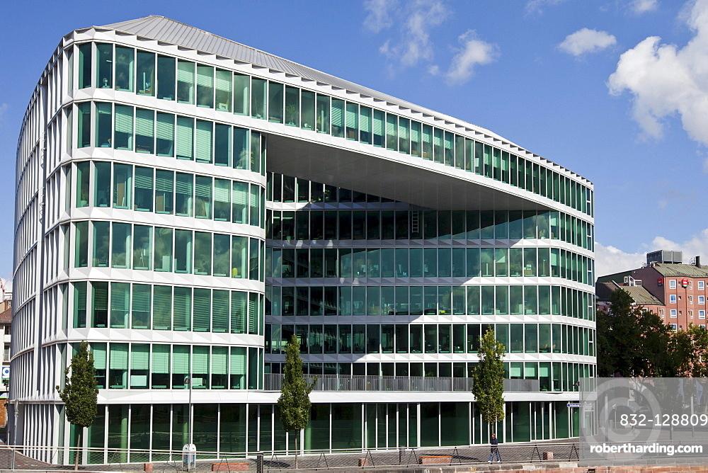 Office buildings beside Westhafen Tower, | Stock Photo
