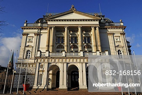 Main Facade Of Schwerin Theater Stock Photo