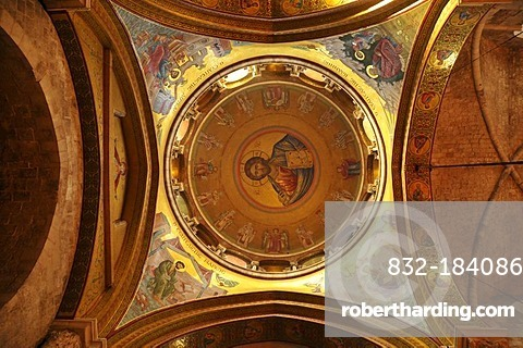 Side dome of the Church of the Holy Sepulchre above the Katholikon, Jerusalem, Israel, Middle East, Orient