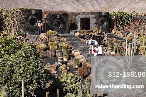 Cactus Garden Jardin De Cactus Stock Photo