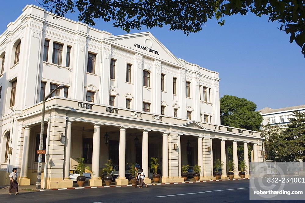 Strand Hotel, colonial hotel, Rangoon, Yangon, Burma, Myanmar, Asia