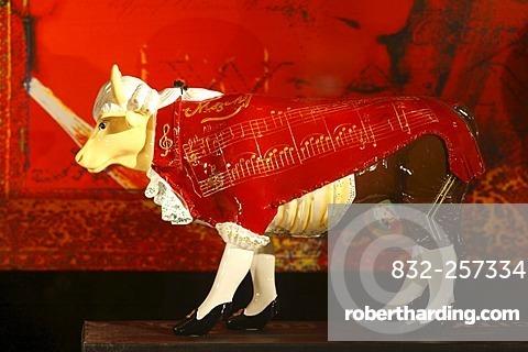 Mozart cow, Salzburg, Austria, Europe