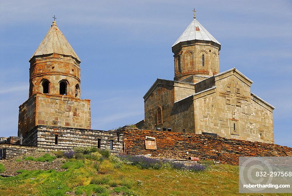 Gergeti Church, near Kazbegi, Georgia, Asia
