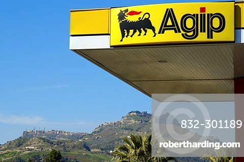 Petrol station near Enna Sicily Italy