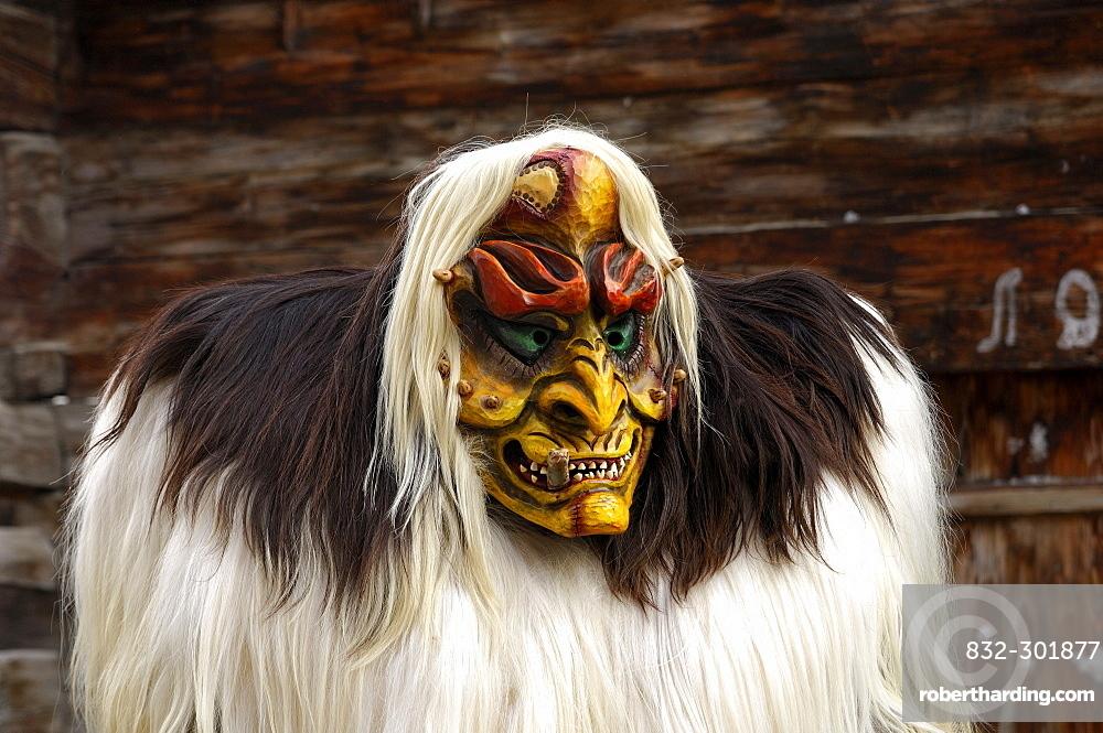 Tschaeggaetae, Carnival masks, Wiler, Loetschental, Valais, Switzerland