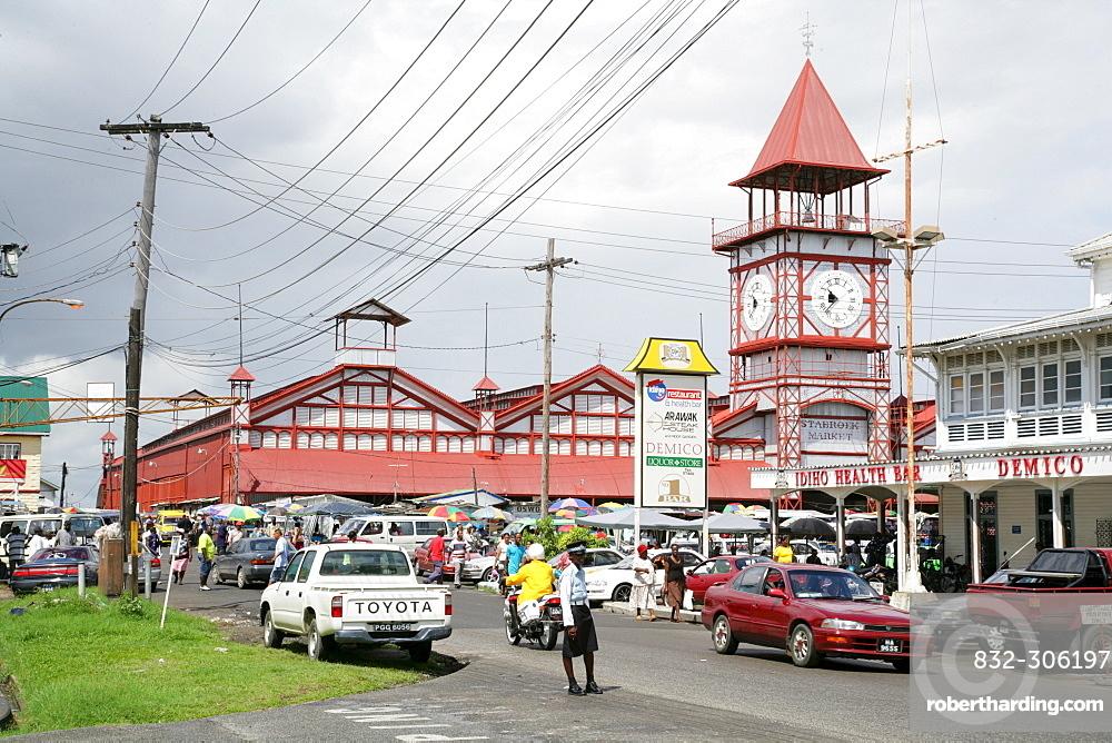 Stabroek indoor market, Georgetown, Guyana,   Stock Photo