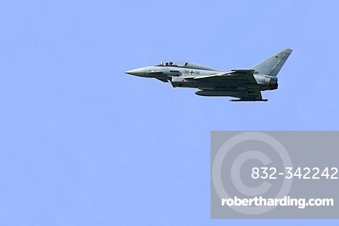 Eurofighter Typhoon, tactical aircraft of the Luftwaffe in flight