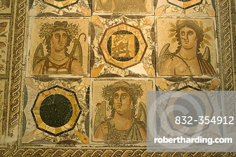 Famous mosaic in the national museum of Tripolis, Libya