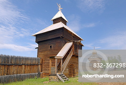 Spassky tower of the Ylym jail, 1667, Irkutsk Architectural and Ethnographic Museum