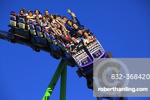 Roller coaster, Alpina Bahn at the Oktoberfest, Munich Beer Festival, Munich, Bavaria, Germany, Europe