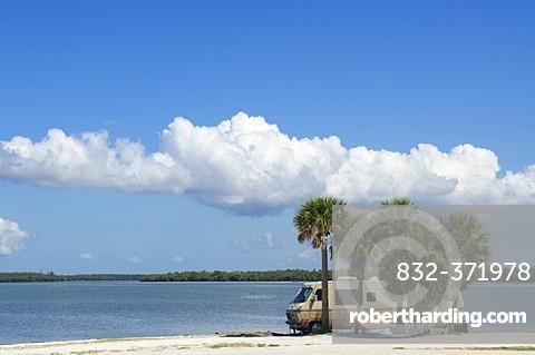 Campervan near Sanibel Island, Fort Myers, Florida, USA