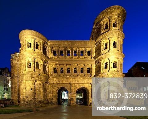 Porta Nigra city gate, north facade, a UNESCO World Heritage site, Trier, Rhineland-Palatinate, Germany, Europe, PublicGround